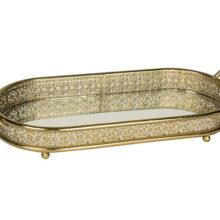 Battlesden Antique Gold Mirrored Tray