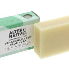 Alternative by Suma Fragrance Free Aloe Vera Handmade Soap 95g